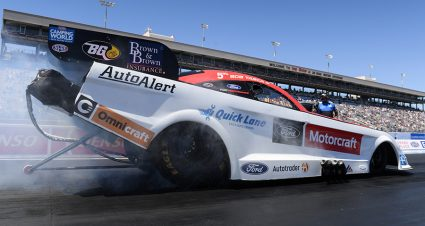 Tasca Looking For Home Track Funny Car Victory