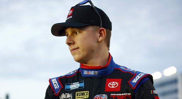 John Hunter Nemechek will compete in three NASCAR Xfinity Series races for Joe Gibbs Racing this year. (Jared C. Tilton/Getty Images Photo)