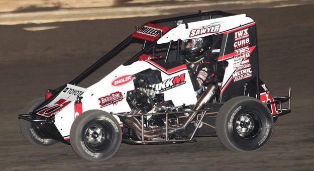 Gavin Miller was triumphant again Thursday during Sooner 600 Week at Creek County Speedway. (Richard Bales Photo)