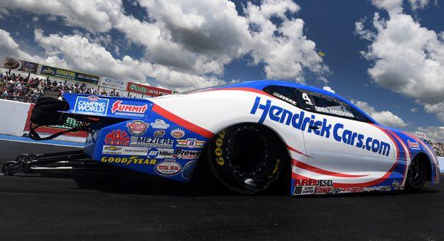 Greg Anderson topped Pro Stock qualifying for the New England Nationals. (NHRA Photo)