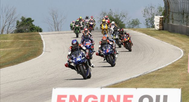 Jake Gagne led from start to finish in Saturday's MotoAmerica Superbike race at Road America. (Brian J. Nelson Photo)