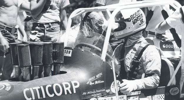 Bobby Unser Jr. competed in the Pikes Peak Int'l Hill Climb in the 1970s and 1980s. (PPIHC Photo)