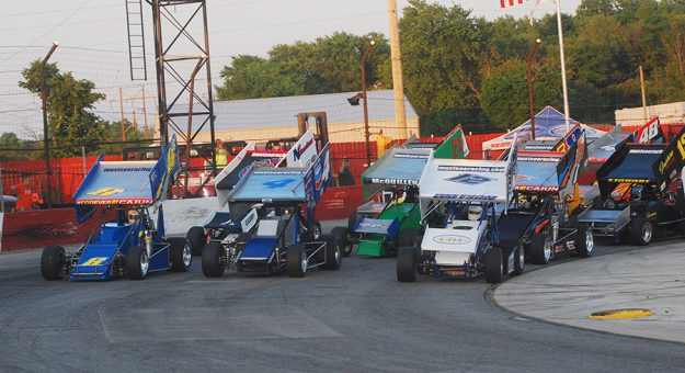 The Must See Racing Sprint Car Series will return to action this weekend at M-40 Speedway. (David Sink Photo)