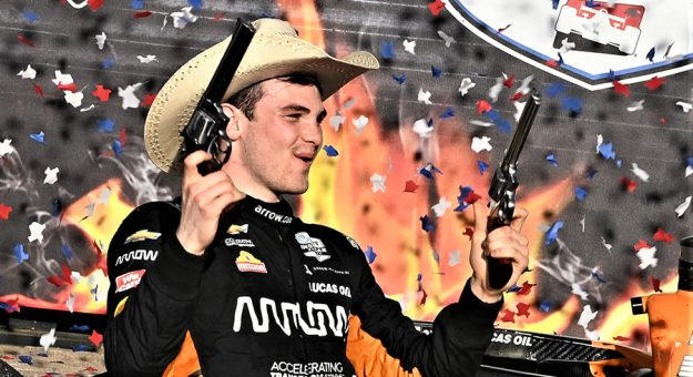Pato O'Ward earned his first NTT IndyCar Series win earlier this year at Texas Motor Speedway. (Al Steinberg Photo)
