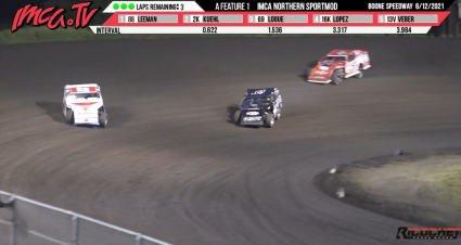 Epic Northern SportMod Finish At Boone Speedway