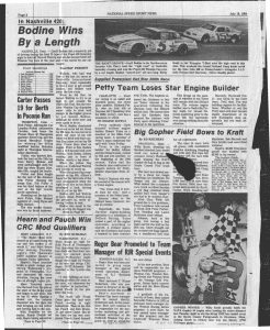 National Speed Sport News' coverage of the most recent NASCAR Cup Series race at Nashville Fairgrounds Speedway in 1984.