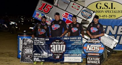 Schatz Finally Gets No. 300 With The Outlaws