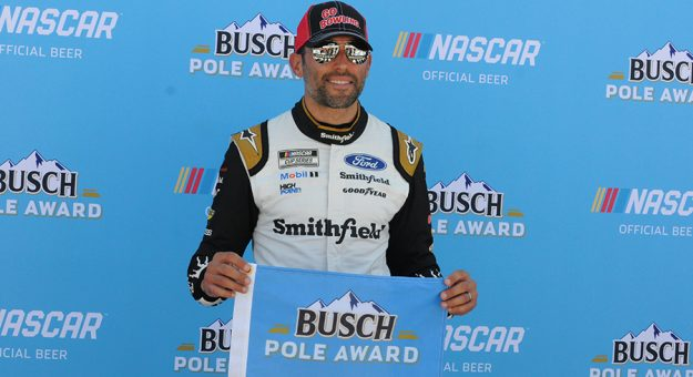 Aric Almirola won the pole for the Ally 400 at Nashville Superspeedway. (Dave Moulthrop Photo)