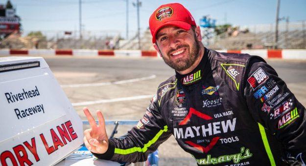 Doug Coby won Sunday's NASCAR Whelen Modified Tour race at Riverhead Raceway. (Adam Glanzman/NASCAR Photo)