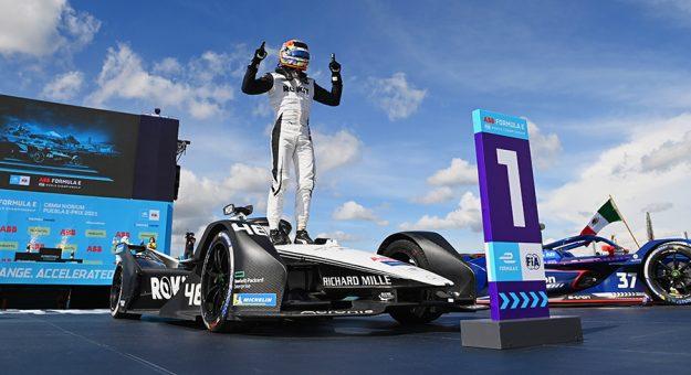 Edoardo Mortara won Sunday's Formula E event in Mexico. (Sam Bagnall / LAT Images Photo)