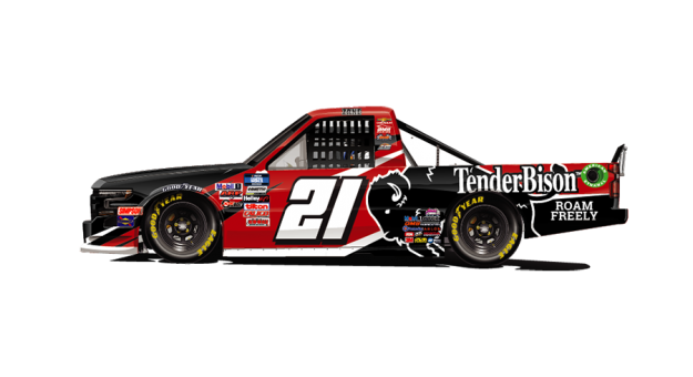 Zane Smith will have sponsorship from TenderBison at Knoxville Raceway.