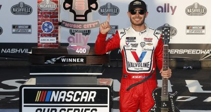 Larson Keeps Rolling With Pocono Cup Pole