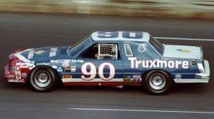 1981:  Jody Ridley at the wheel of Junie DonlaveyÕs Truxmore-sponsored Ford Thunderbird. Ridley scored the only NASCAR Cup win of his career during the year in the Mason-Dixon 500 at Dover Downs (DE) International Speedway. It would also be DonlaveyÕs only career NASCAR Cup victory as a car owner. (Photo by ISC Images & Archives via Getty Images)