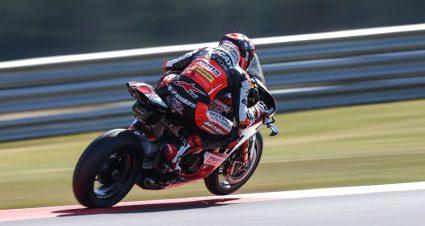 Baz Rides Rocket Ducati To Ridge Superbike Pole