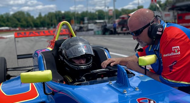 Nathan Byrd faced a sharp learning curve while racing with the Cooper Tires USF2000 Championship last weekend at the Mid-Ohio Sports Car Course.