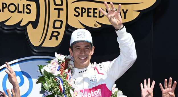Helio Castroneves became the latest four-time Indianapolis 500 winner in May. (Al Steinberg Photo)