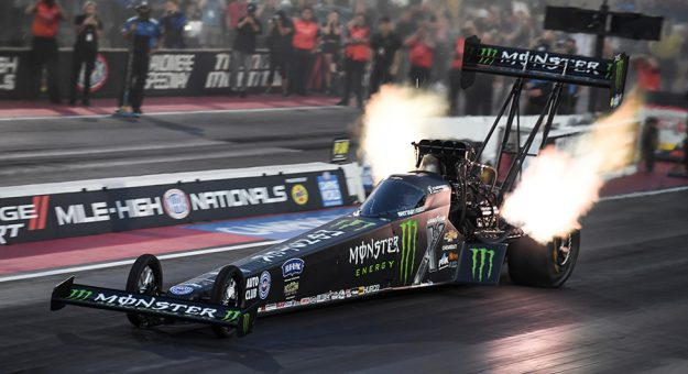 Brittany Force made the quickest run in Bandimere Speedway history Saturday. (NHRA Photo)