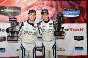 Ross Gunn and Roman De Angelis conquered the GT Daytona portion of Saturday's Northeast Grand Prix. (IMSA Photo)