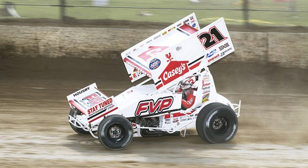 Brian Brown is leaning on his uncle, Danny Lasoski, to help him get back into his groove ahead of the Knoxville Nationals. (Doug Auld Photo)