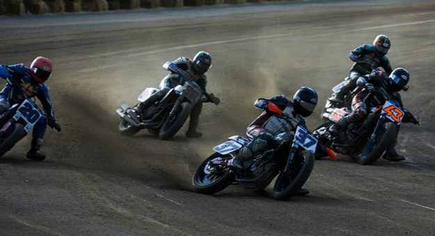 A number of Progressive American Flat Track riders will be racing in their home state when the series visits Port Royal Speedway this weekend. (Scott Hunter Photo)