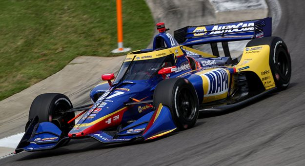 """Robert Wickens, a genuine friend of 2016 Indy 500 winner Alexander Rossi, called Rossi """"ruthless"""" and said, """"He races every corner like it's the last lap."""" (IndyCar Photo)"""