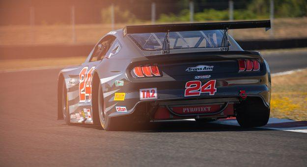Brad McAllister claimed the Trans-Am Series presented by Pirelli West Coast pole Saturday at Portland Int'l Raceway.