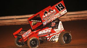 Brent Marks in action Saturday at Williams Grove Speedway. (Julia Johnson Photo)