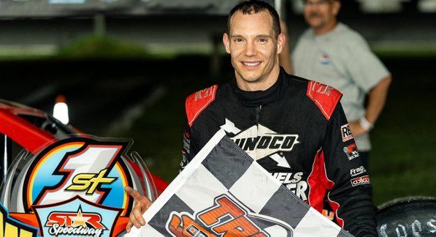 Matt Hirschman in victory lane at Star Speedway. (Tom Morris Photo)