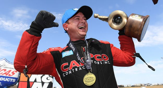Steve Torrence continued his Top Fuel hot streak Sunday at Sonoma Raceway. (NHRA Photo)