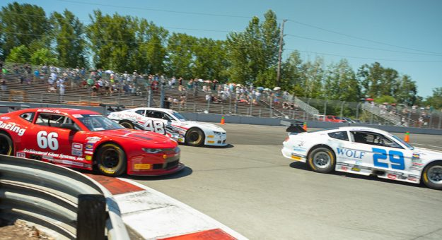 Scorching temperatures greeted Trans-Am Series presented by Pirelli West Coast Championship racers Sunday at Portland Int'l Raceway.