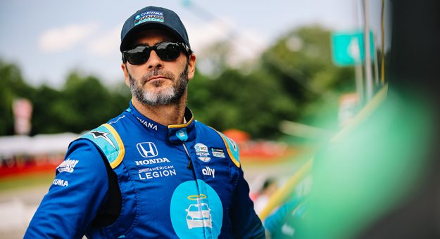 Jimmie Johnson is expected to test an Indy car on an oval in August. (IndyCar Photo)