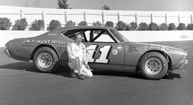 Jack Ingram at Martinsville Speedway with the 1968 Chevelle he drove to his third of three consecutive NASCAR Late Model Sportsman series championships. (ISC Images & Archives via Getty Images Photo)