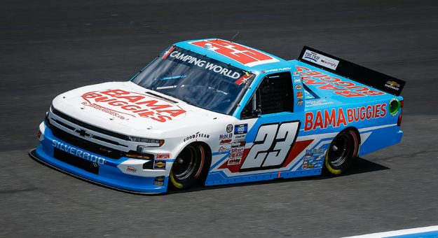 Chase Purdy will miss Saturday's NASCAR Camping World Truck Series race at Watkins Glen Int'l after testing positive for COVID-19. (HHP/Chris Owens Photo)