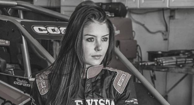 Maria Cofer will drive for Abacus Racing when the team makes its USAC NOS Energy Drink National Midget Series debut during the BC39.