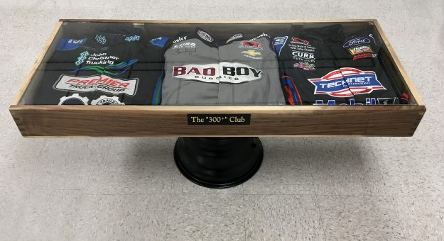 This one-of-a-kind coffee table built by Kenny Jacobs sold for $14,000 during the annual National Sprint Car Hall of Fame & Museum auction. (Doug Auld Photo)