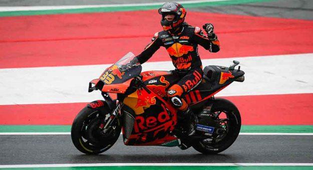 Brad Binder triumphed in Sunday's MotoGP event in Austria (Red Bull Photo)
