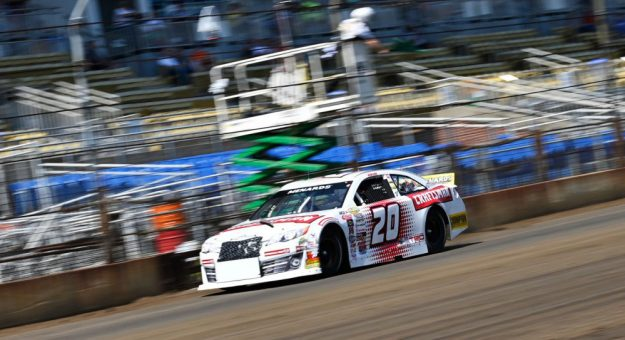 Corey Heim triumphed in the Allen Crowe 100 Sunday at the Illinois State Fairgrounds. (ARCA Photo)