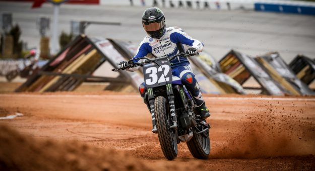 Dallas Daniels has been turning heads in American Flat Track competition the last few seasons. (AFT Photo)