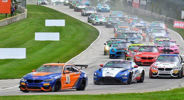 The Pirelli GT4 America field Sunday at Road America.