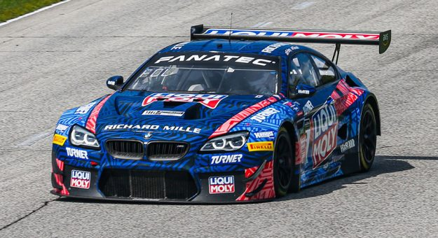 Michael Dinan and Robbie Foley won Sunday's GT World Challenge America event at Road America.