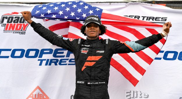 Myles Rowe earned his first Cooper Tires USF2000 Championship victory Sunday at New Jersey Motorsports Park.