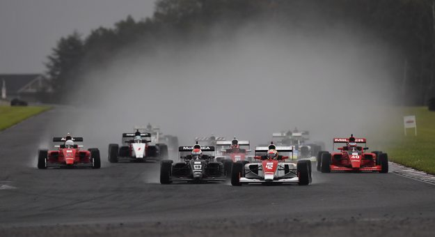 Rain was a factor during Sunday's opening Indy Pro 2000 event at New Jersey Motorsports Park.