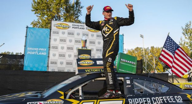 Taylor Gray was awarded the victory in Saturday's ARCA Menards Series West race at Portland Int'l Raceway. (ARCA Photo)