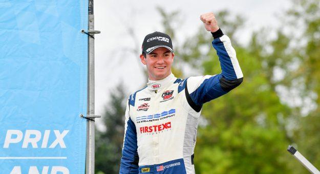 Kyle Kirkwood captured Sunday's Indy Lights event at Portland Int'l Raceway.