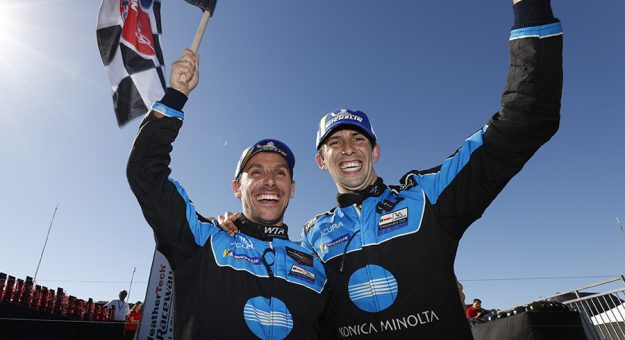 Filipe Albuquerque and Ricky Taylor triumphed at WeatherTech Raceway Laguna Seca on Sunday. (IMSA Photo)