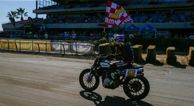 Jared Mees romped to another American Flat Track triumph Sunday in Sacramento, Calif.