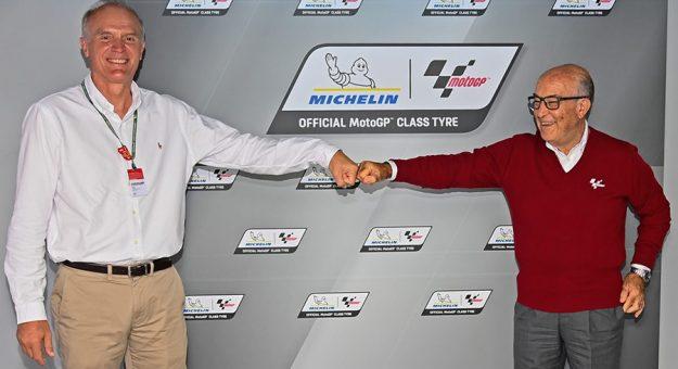 Michelin will continue as the MotoGP tire supplier through 2026.