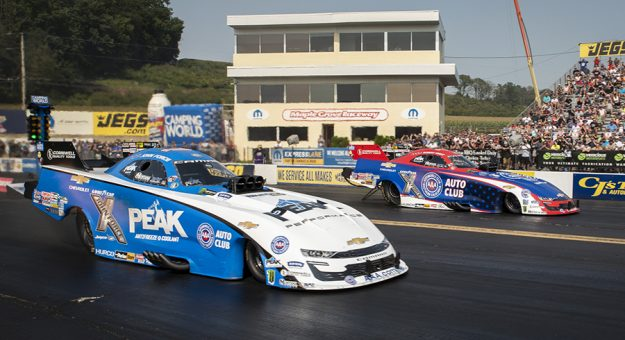 The NHRA has announced a 22-race schedule for the 2022 NHRA Camping World Drag Racing Series season. (Dennis Bicksler Photo)