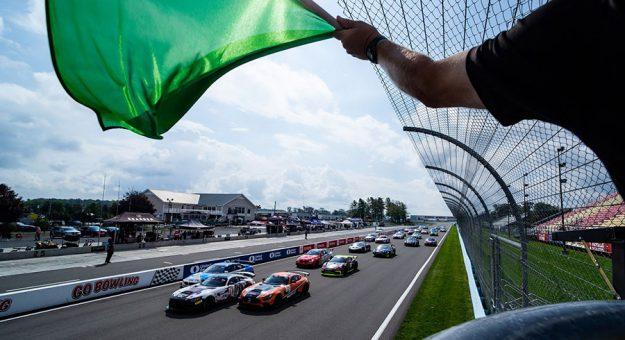The start of Saturday's Pirelli GT4 America event at Watkins Glen Int'l.