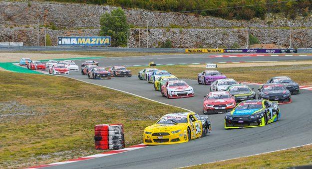 NASCAR Whelen Euro Series competitors battle for supremacy Saturday at Automotodrom Grobnik. (Bart Dehaese Photo)